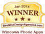 We Have Been Ranked By canada.bestwebdesignagencies.com For January 2014